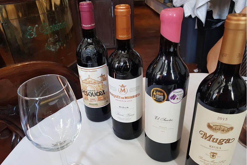 Puedes elegir entre más de 50 referencias de vino